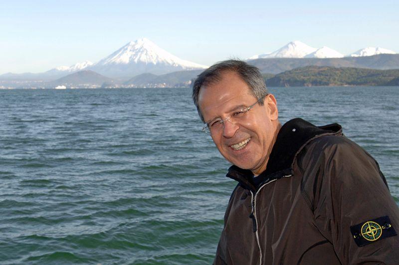 Глава МИД РФ Сергей Лавров во время поездки на Камчатку.