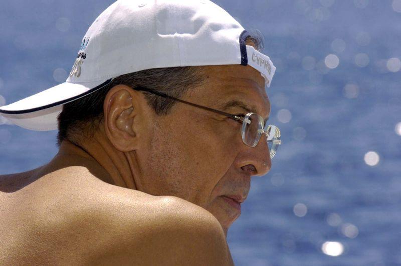Министр иностранных дел РФ Сергей Лавров на отдыхе. Никосия, Кипр.