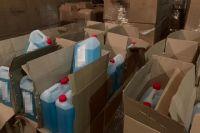 В Волынской области СБУ разоблачила реализацию контрафактных антисептиков