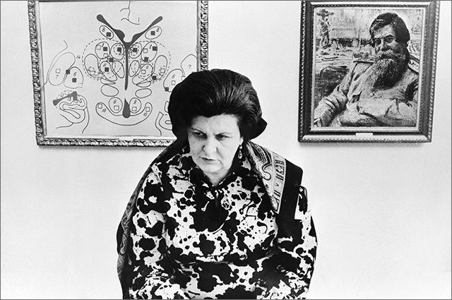 Директор Института экспериментальной медицины профессор Наталья Бехтерева. 1990 год.