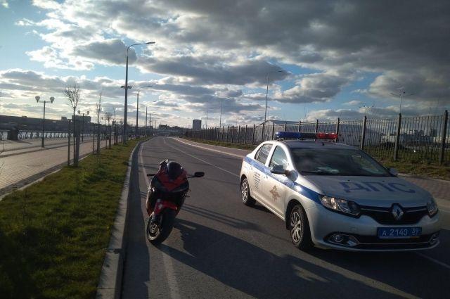 В Калининграде пострадал в ДТП нетрезвый мотоциклист