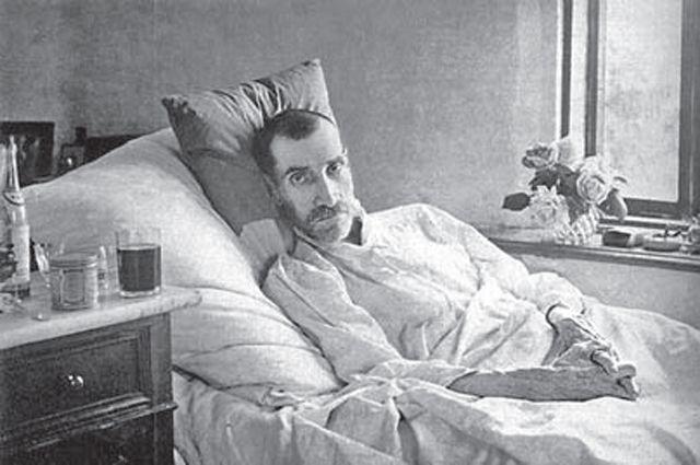 Александр Грин на смертном одре, Крым, 1932 год.