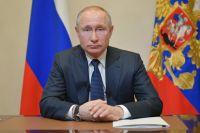 Президент РФ Владимир Путин во время обращения к гражданам из-за ситуации с угрозой распространения коронавирусной инфекции.