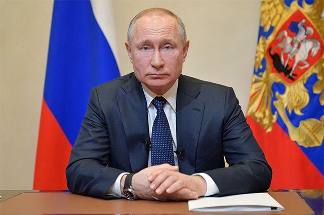 25 марта 2020. Президент РФ Владимир Путин во время обращения к гражданам из-за ситуации с угрозой распространения коронавирусной инфекции.