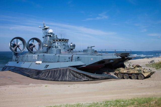 На Балтийском флоте прошли учения по высадке морского десанта