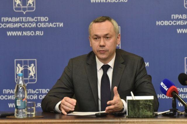 Губернатор Новосибирской области Андрей Травников выступил в эфире передачи «Вечер с Владимиром Соловьевым».