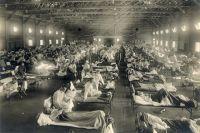 Во время эпидемии испанского гриппа.