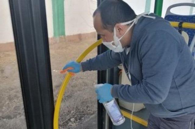 Автобусы и маршрутки Тюмени регулярно дезинфицируют