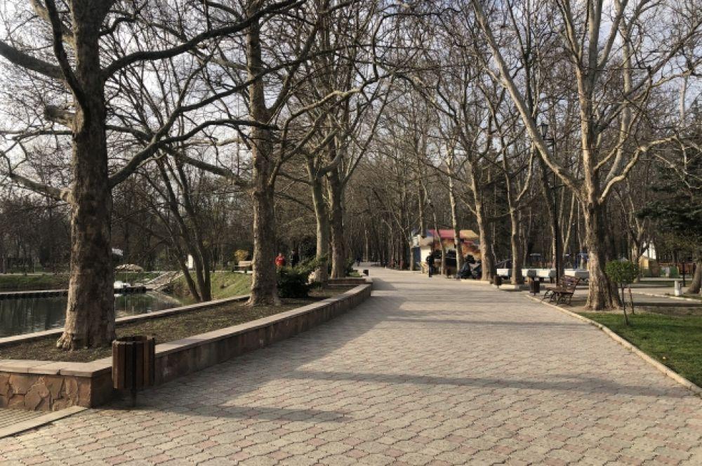 Парк им. Ю.Гагарина в Симферополе.