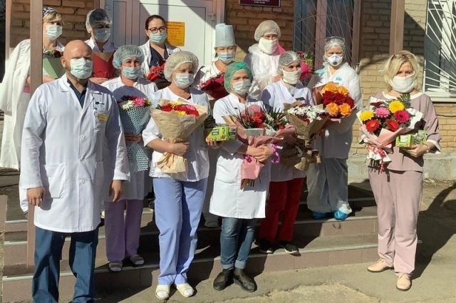 Оренбургские предприниматели поддержали врачей инфекционной больницы