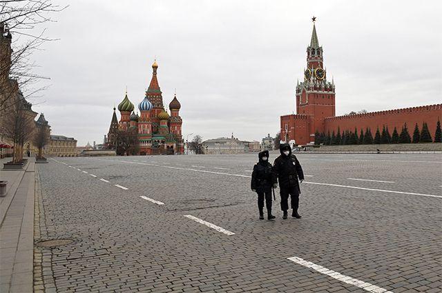 Карантин в Москве.