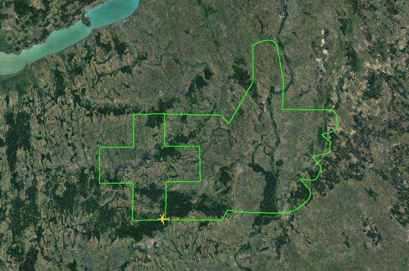 Легкомоторный самолет Magnus Fusion 212 нарисовал «лайк» медикам в небе над Венгрией.