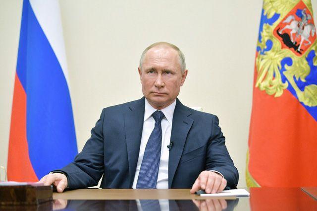 2 апреля 2020 г. Президент РФ Владимир Путин во время обращения к гражданам из-за ситуации с угрозой распространения коронавирусной инфекции.