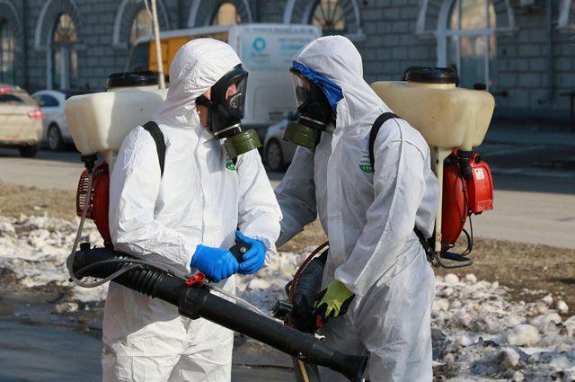 В Барнауле начали дезинфекцию улиц и остановок