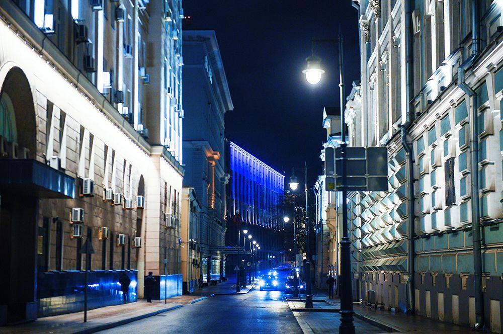 На улицах Москвы.
