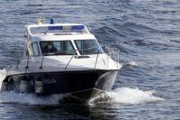 Полиция патрулирует акваторию Енисея.