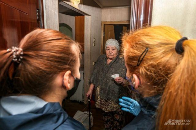 Волонтеры за один день доставили оренбуржцам 77 кг продуктов и лекарств.