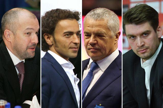 Генеральные директора футбольных клубов: Василий Кикнадзе, Роман Бабаев, Александр Медведев и Томас Цорн.