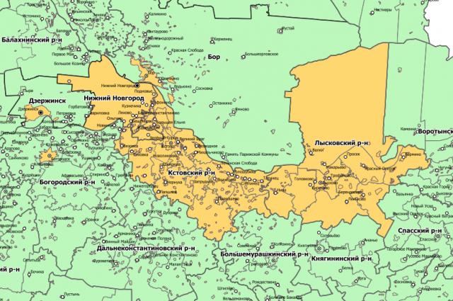 Карта территорий, где выявлена коронавирусная инфекция