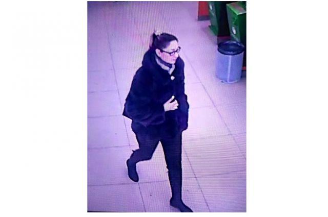 Подозреваемая в краже с камеры видеонаблюдения.