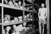 Освобождённые узники Бухенвальда, 16 апреля 1945 года.