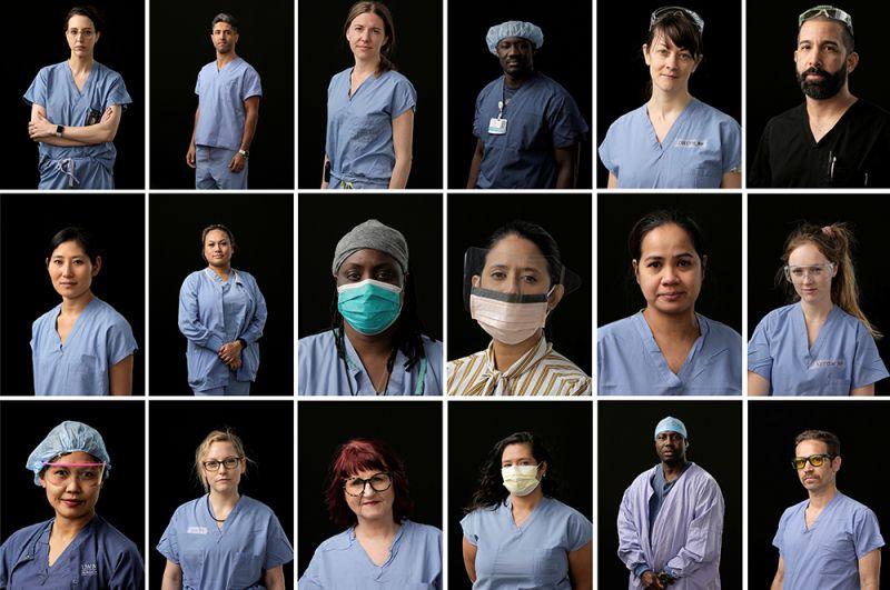 Персонал медицинского центре Харборвью в Сиэтле, штат Вашингтон, США.