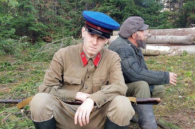 Пермяка Евгения Старкова утвердили на роль негодяя-красноармейца.