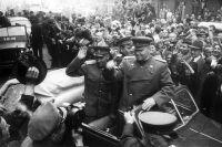 Иван Конев в Праге, 1945 год