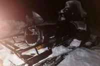 В тундре Ямальского района перевернулся снегоход