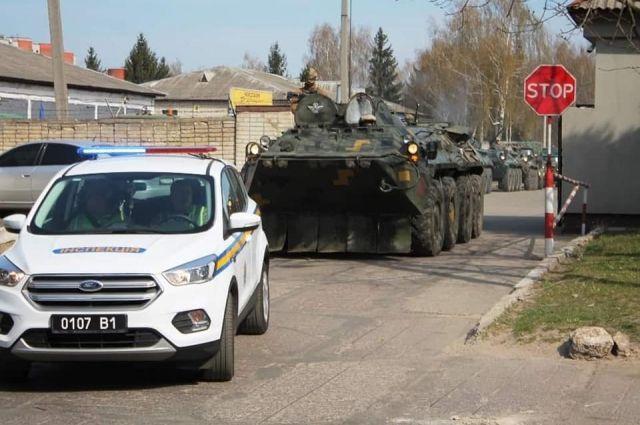 На западе Украины проходят масштабные учения ВСУ