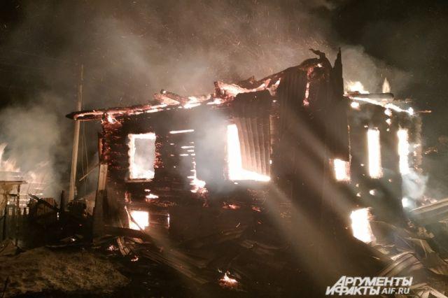 Возгорание дома произошло на улице Калинина.