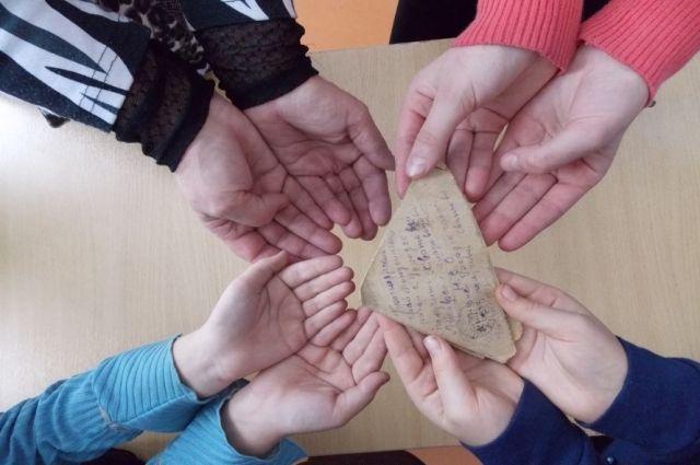 Об одном солдатском письме рассказали школьники.