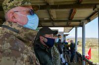 Зеленский проинспектировал учения ВСУ в Закарпатской области