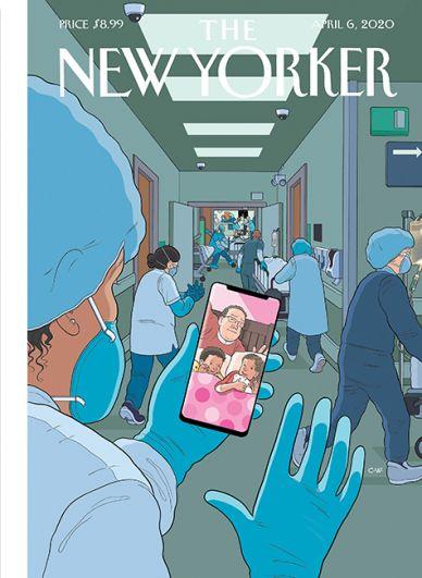 Обложку для мартовского номера издания нарисовал Крис Уэр. Она называется «Время ложиться спать» и напоминает, что у врачей есть собственные семьи.