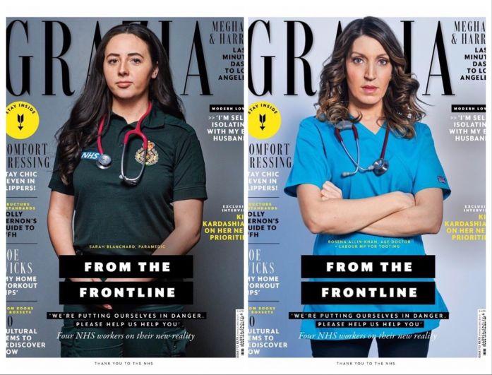 Британский еженедельник Grazia поместил на обложку сразу четырех медработников.