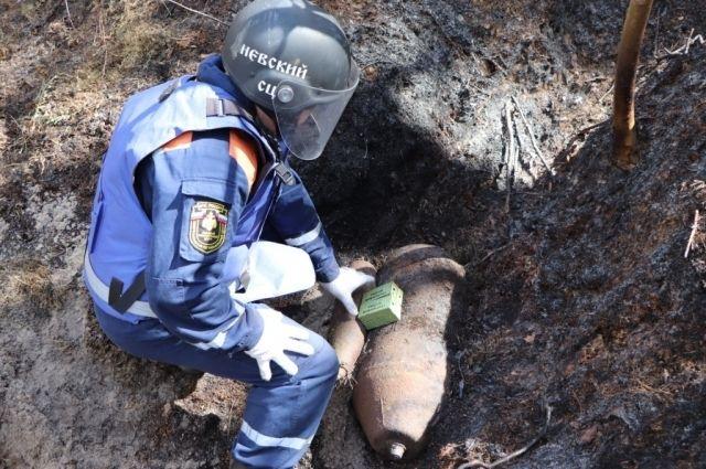 На Балтийской косе при тушении пожара нашли два боеприпаса времён ВОВ