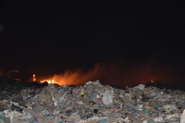 В Николаевской области на полигоне бытовых отходов произошел пожар