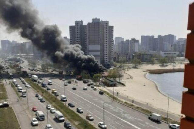 В столице загорелся ресторан: пожару присвоен первый ранг сложности