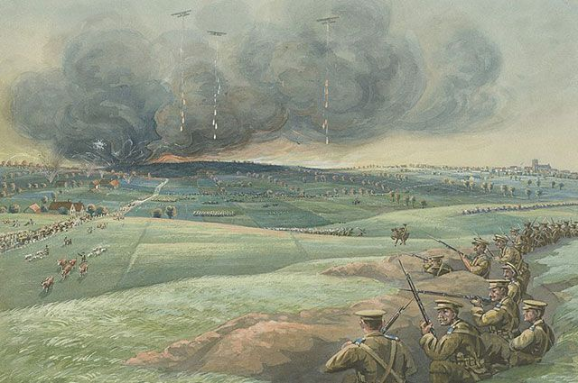«7 A. M., 22 апреля, 1915 г.». Художник Артур Нантель.