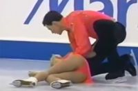 Татьяна Тотьмянина после падения.
