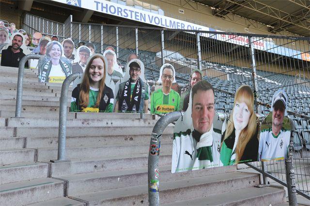 Пустые трибуны на стадионе «Боруссия-парк».