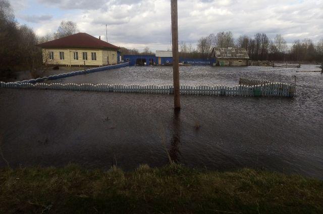 В двух деревнях Вагайского района подтопило придомовые территории