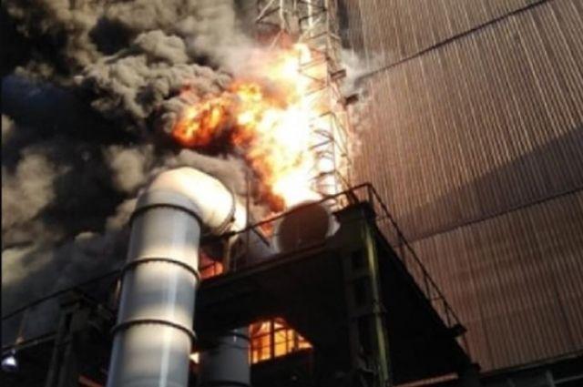 В Донецкой области произошел пожар на металлургическом комбинате