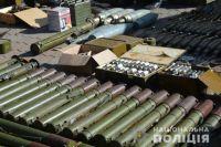 В Донецкой области полицейские нашли огромный тайник с боеприпасами