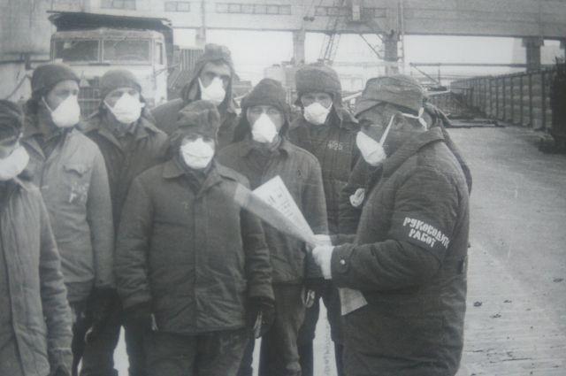 Николай Машков при ликвидации последствий взрыва на Чернобыльской АЭС.