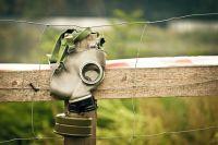 В Гребенях обнаружена свалка противогазов и бронежилетов.