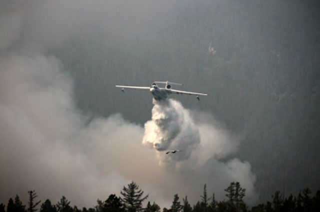 Общая площадь пожаров 2,2 тыс. гектаров.