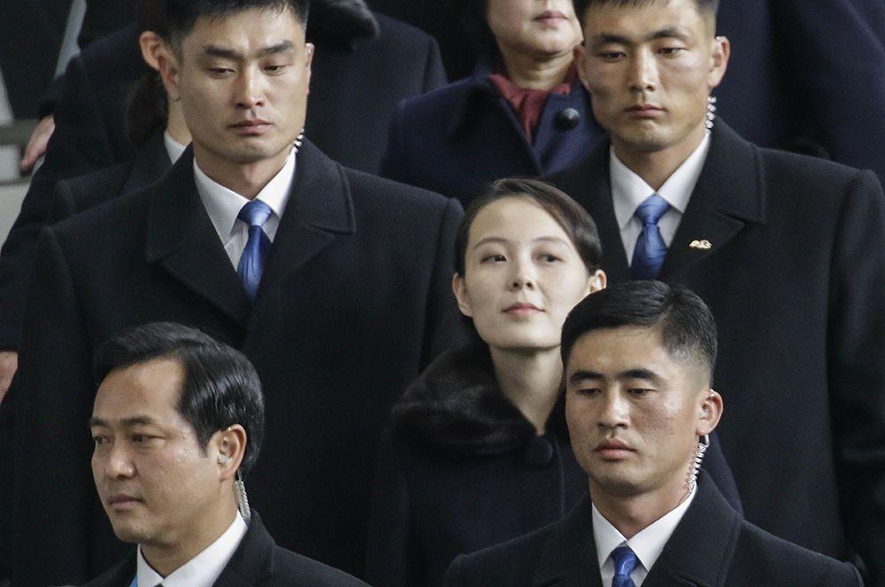 Ким Е Чжон, прибывшая на открытие Зимних Олимпийских игр в Пхенчхан в составе делегации из Северной Кореи.