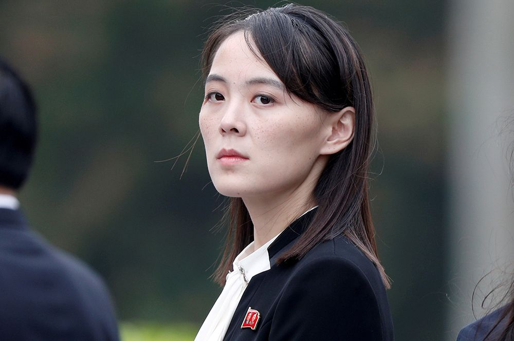 Ким Е Чжон принимает участие в церемонии возложения венков к Мавзолею Хо Ши Мина в Ханое, Вьетнам.