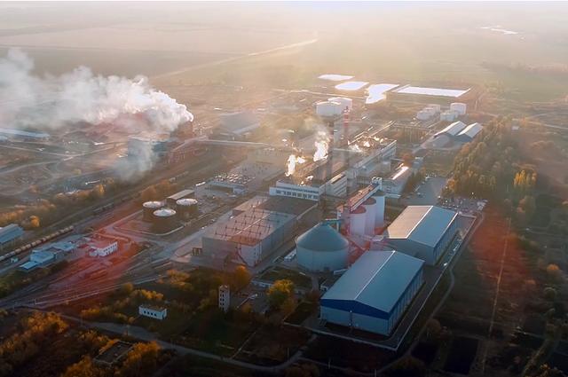 Добринский сахарный завод в Липецкой области.
